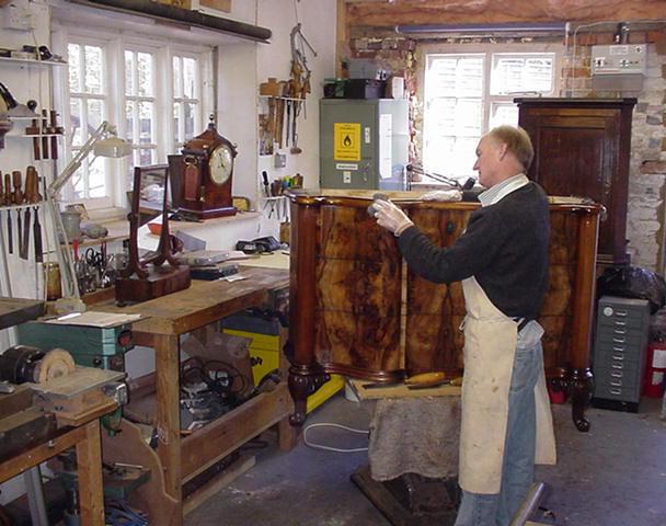 Malcolm in workshop