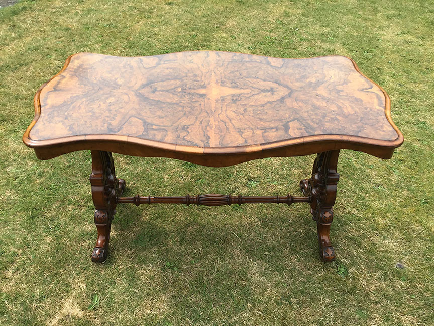 Burr walnut table